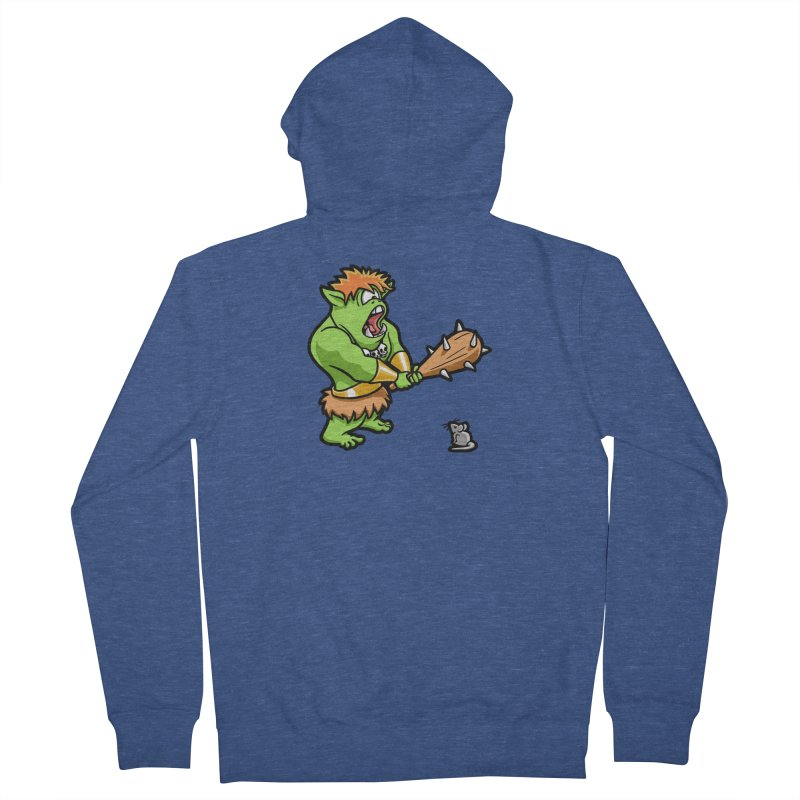 Ollie the Cyclops Finds His Nemesis Men's French Terry Zip-Up Hoody by Rina Rozsas's Artist Shop