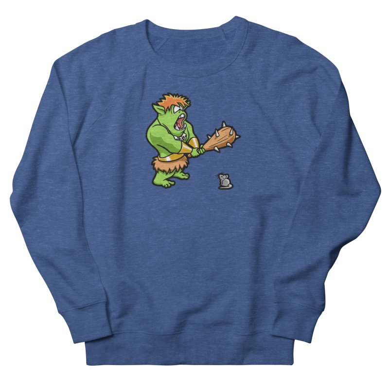 Ollie the Cyclops Finds His Nemesis Women's French Terry Sweatshirt by Rina Rozsas's Artist Shop