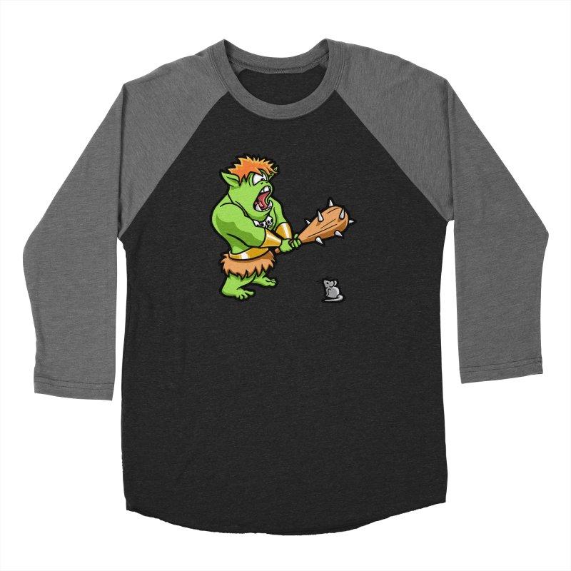 Ollie the Cyclops Finds His Nemesis Women's Baseball Triblend Longsleeve T-Shirt by Rina Rozsas's Artist Shop