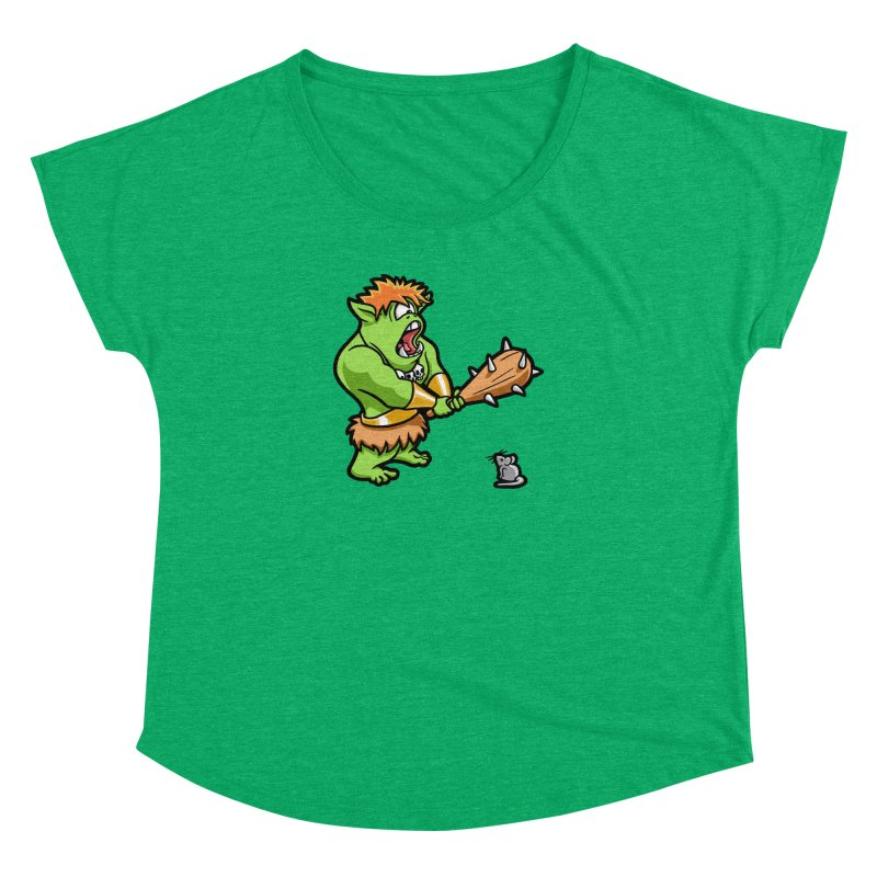 Ollie the Cyclops Finds His Nemesis Women's Dolman Scoop Neck by Rina Rozsas's Artist Shop