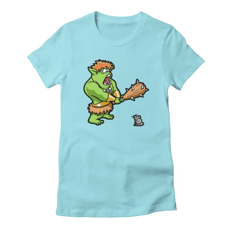 Ollie the Cyclops Finds His Nemesis Women's Fitted T-Shirt by Rina Rozsas's Artist Shop