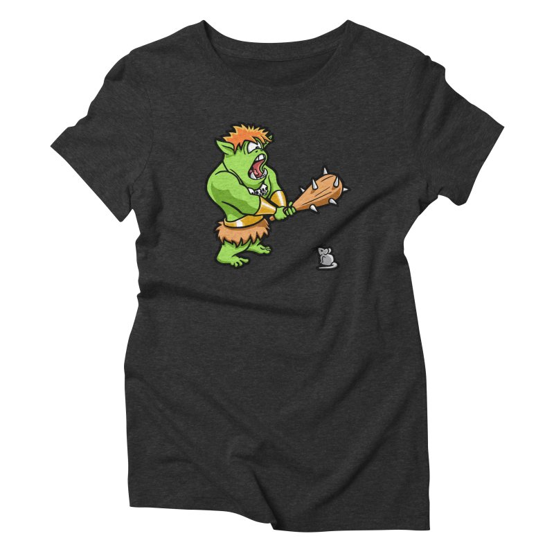 Ollie the Cyclops Finds His Nemesis Women's Triblend T-Shirt by Rina Rozsas's Artist Shop