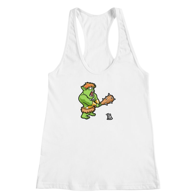 Ollie the Cyclops Finds His Nemesis Women's Racerback Tank by Rina Rozsas's Artist Shop