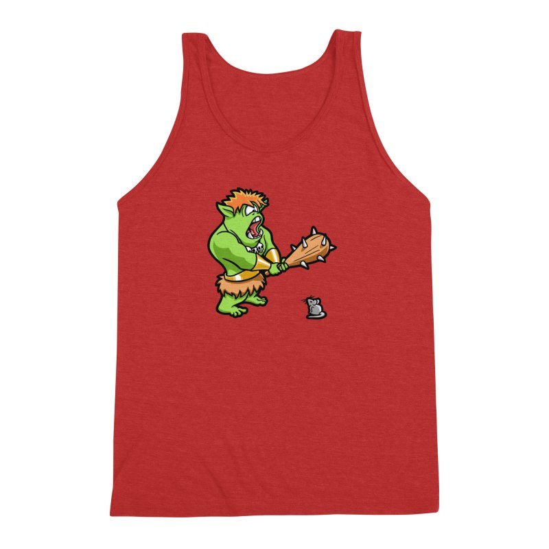 Ollie the Cyclops Finds His Nemesis Men's Triblend Tank by Rina Rozsas's Artist Shop