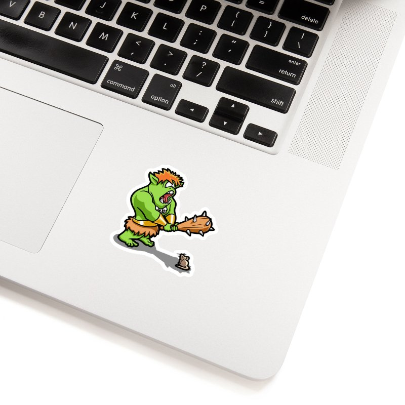 Ollie the Cyclops Finds His Nemesis Accessories Sticker by Rina Rozsas's Artist Shop