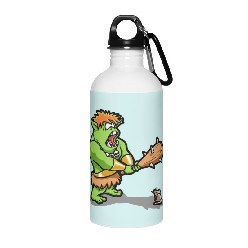 Ollie the Cyclops Finds His Nemesis Accessories Water Bottle by Rina Rozsas's Artist Shop
