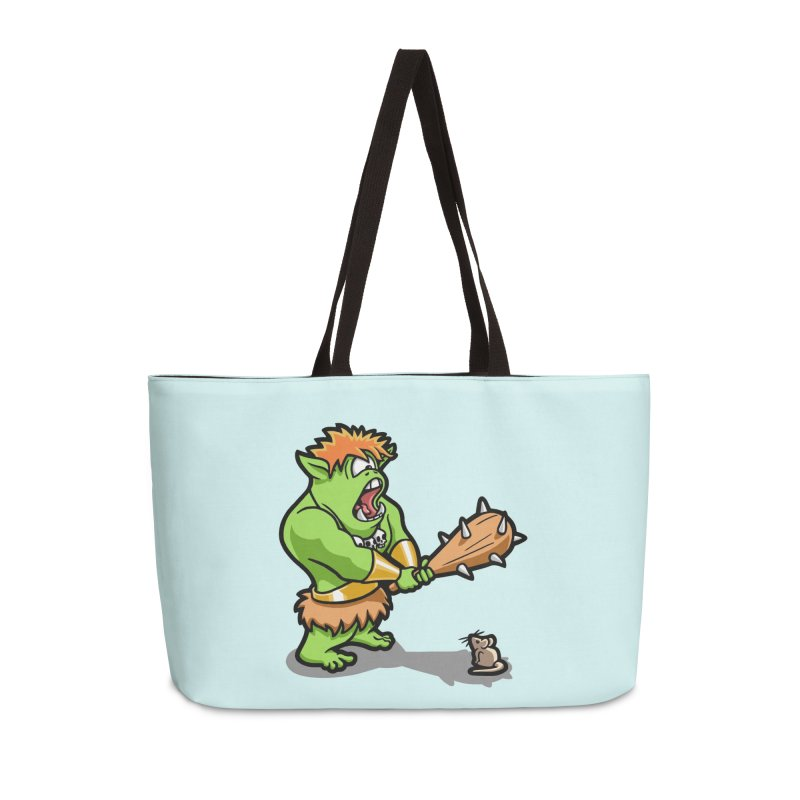 Ollie the Cyclops Finds His Nemesis Accessories Weekender Bag Bag by Rina Rozsas's Artist Shop