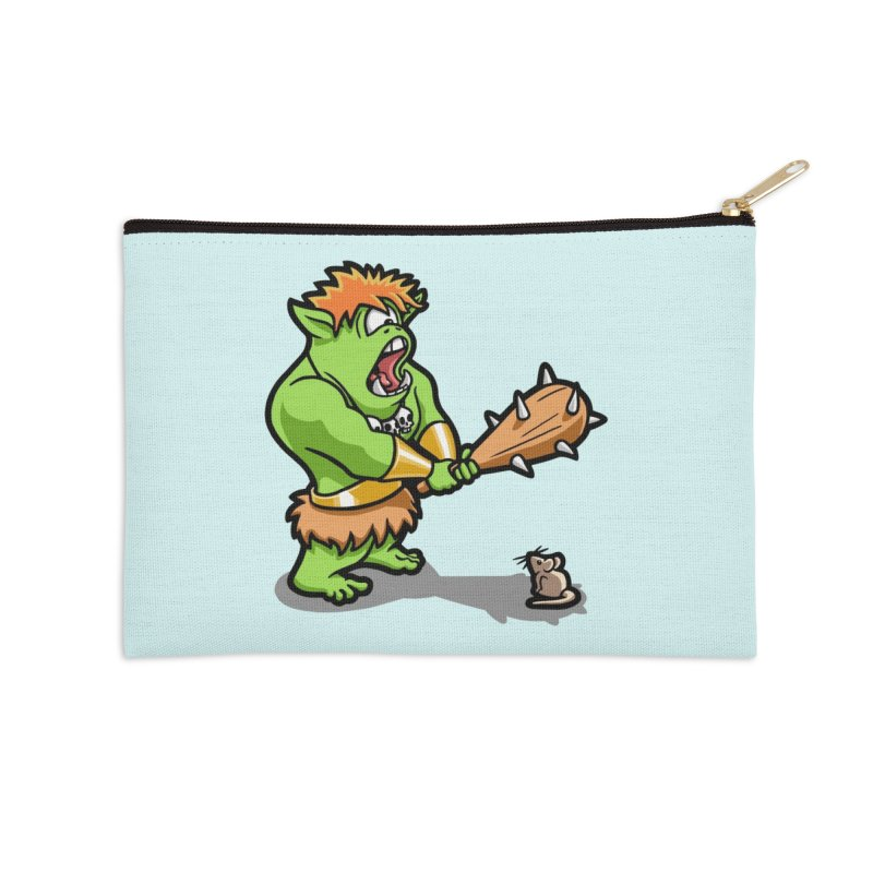 Ollie the Cyclops Finds His Nemesis Accessories Zip Pouch by Rina Rozsas's Artist Shop