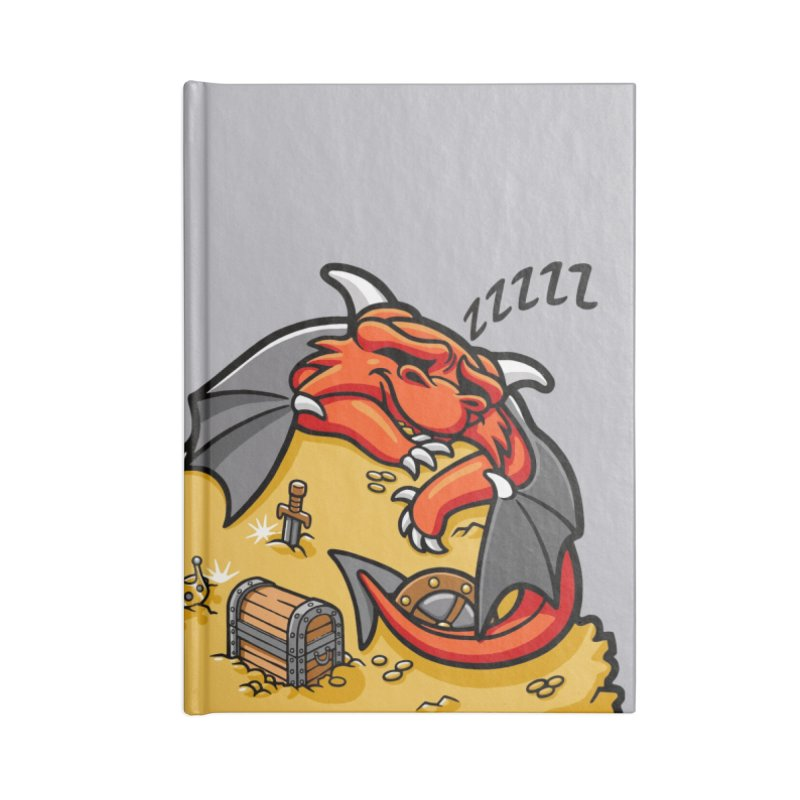 Sleeping Dragon Accessories Lined Journal Notebook by Rina Rozsas's Artist Shop