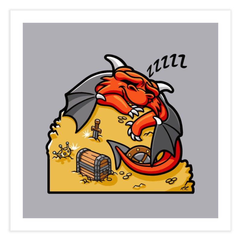 Sleeping Dragon Home Fine Art Print by Rina Rozsas's Artist Shop