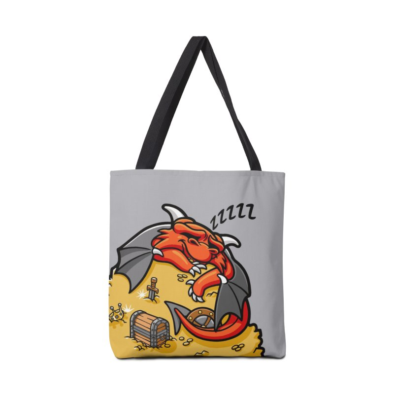 Sleeping Dragon Accessories Bag by Rina Rozsas's Artist Shop
