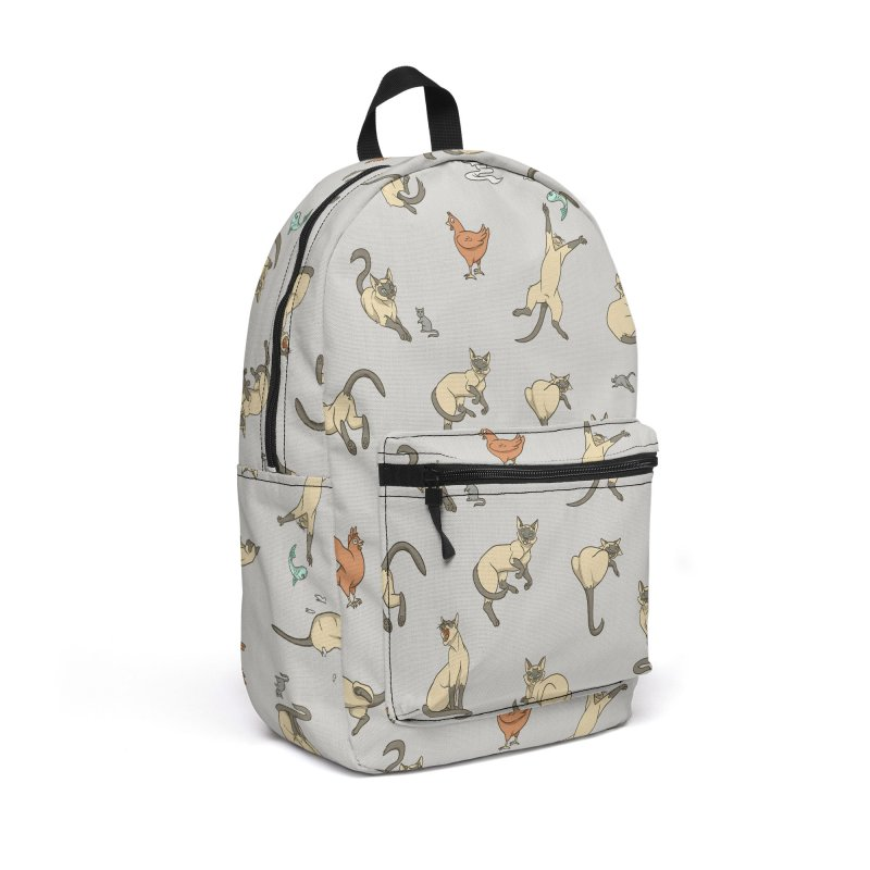Cat Life Accessories Backpack Bag by Rina Rozsas's Artist Shop