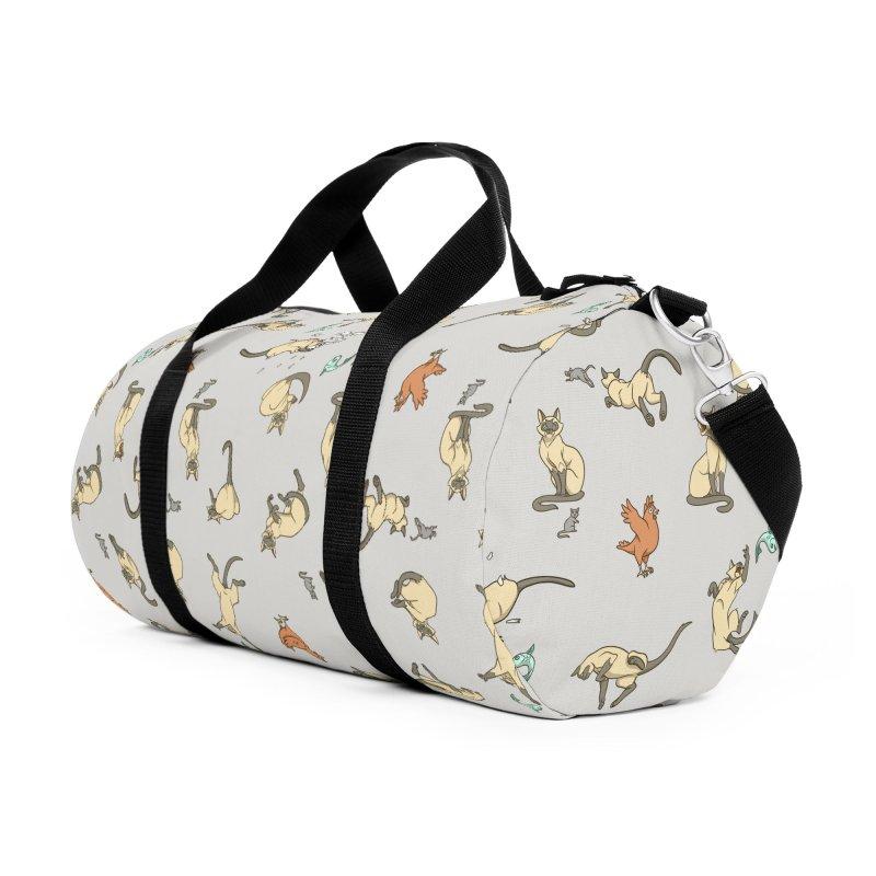 Cat Life Accessories Duffel Bag Bag by Rina Rozsas's Artist Shop