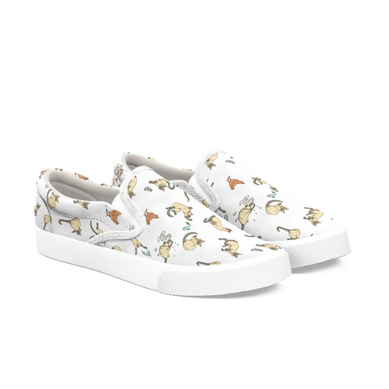 Cat Life Women's Slip-On Shoes by Rina Rozsas's Artist Shop