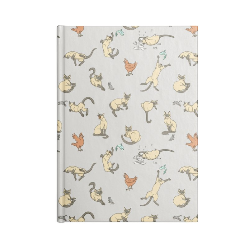 Cat Life Accessories Lined Journal Notebook by Rina Rozsas's Artist Shop