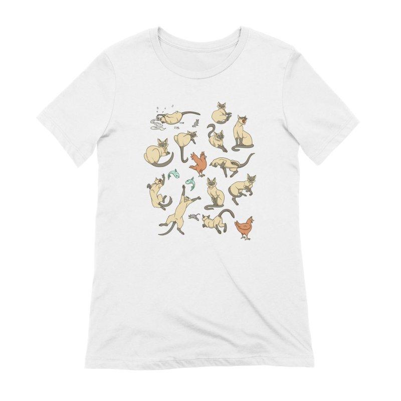 Cat Life Women's Extra Soft T-Shirt by Rina Rozsas's Artist Shop