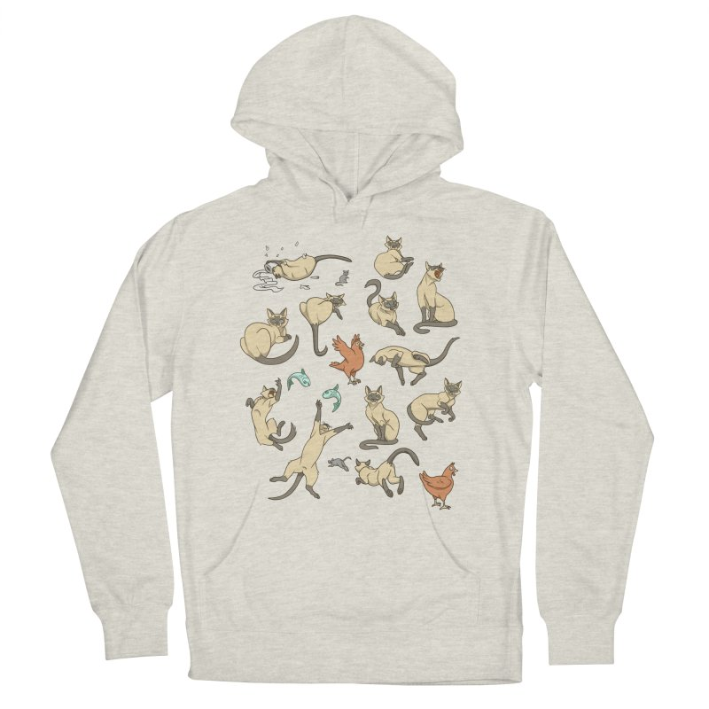 Cat Life Women's French Terry Pullover Hoody by Rina Rozsas's Artist Shop