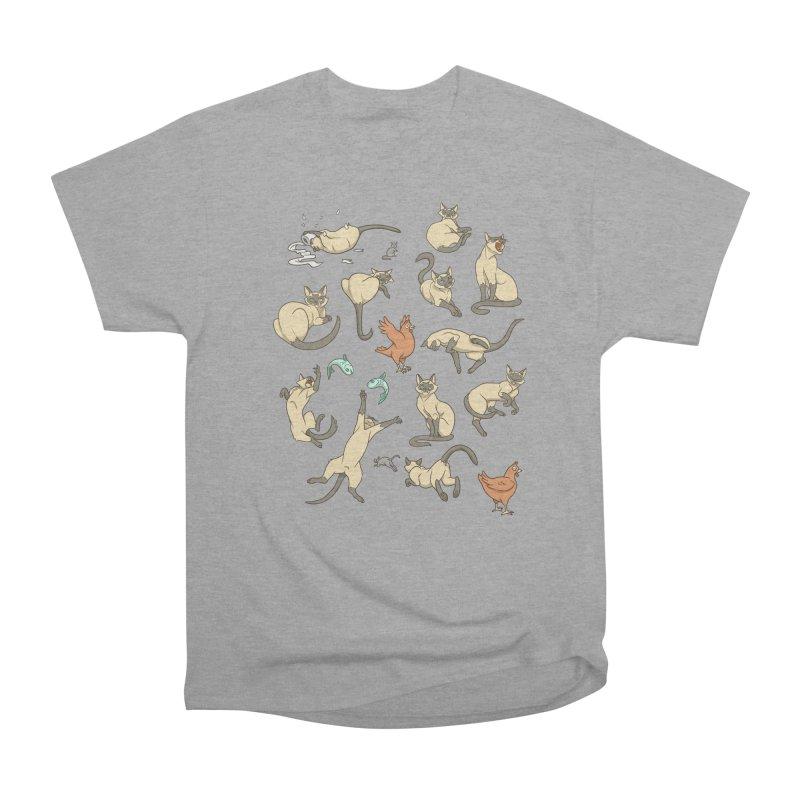 Cat Life Men's Heavyweight T-Shirt by Rina Rozsas's Artist Shop