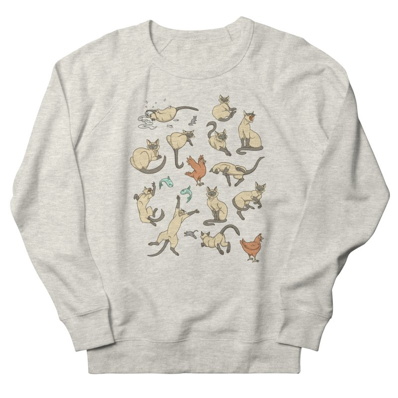 Cat Life Women's French Terry Sweatshirt by Rina Rozsas's Artist Shop
