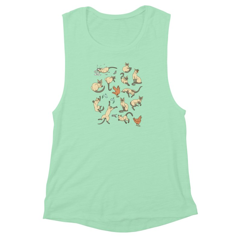 Cat Life Women's Muscle Tank by Rina Rozsas's Artist Shop