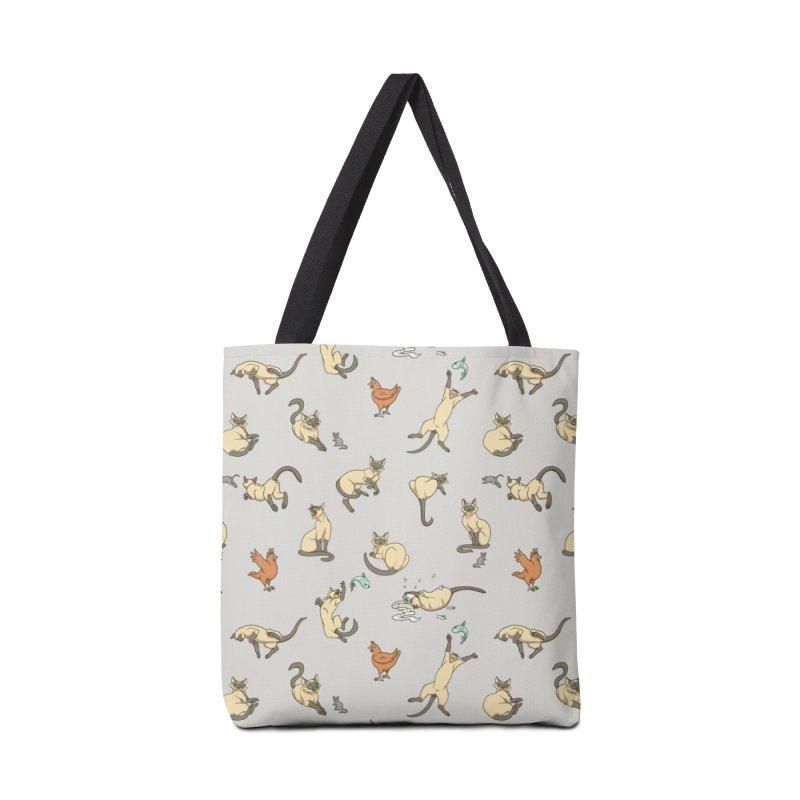 Cat Life Accessories Tote Bag Bag by Rina Rozsas's Artist Shop