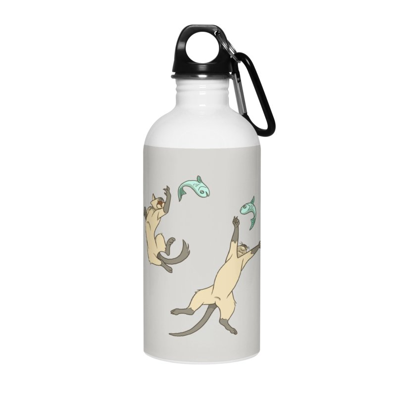 Cat Life Accessories Water Bottle by Rina Rozsas's Artist Shop
