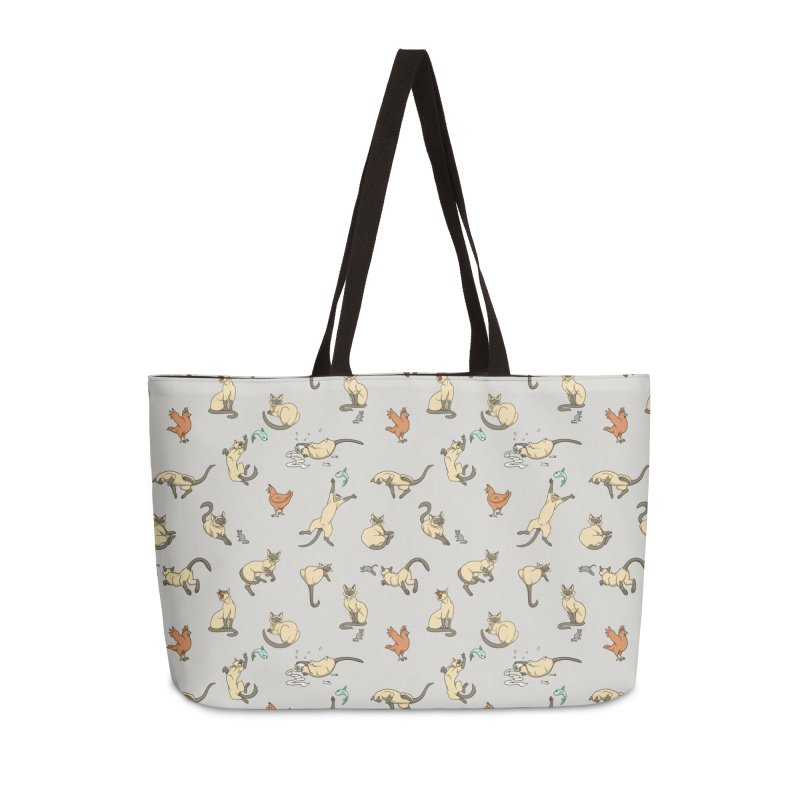 Cat Life Accessories Weekender Bag Bag by Rina Rozsas's Artist Shop