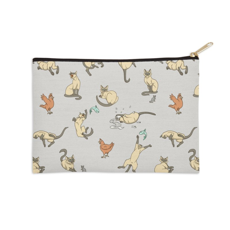 Cat Life Accessories Zip Pouch by Rina Rozsas's Artist Shop