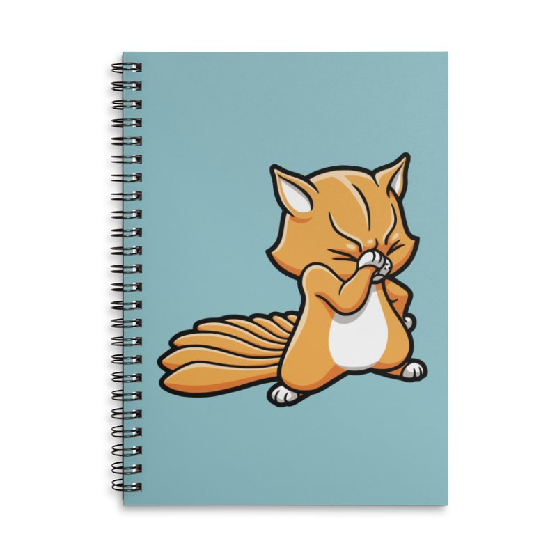 Face Palm Accessories Lined Spiral Notebook by Rina Rozsas's Artist Shop