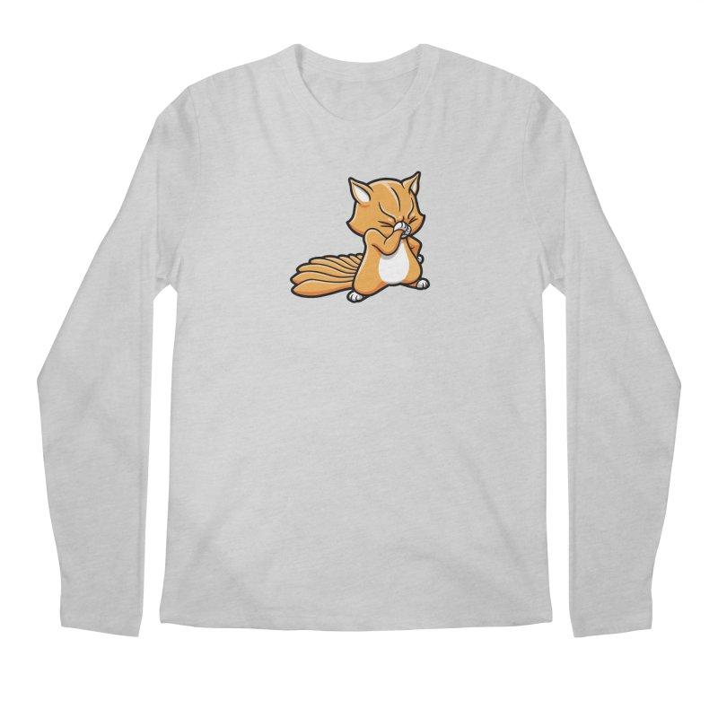 Face Palm Men's Regular Longsleeve T-Shirt by Rina Rozsas's Artist Shop