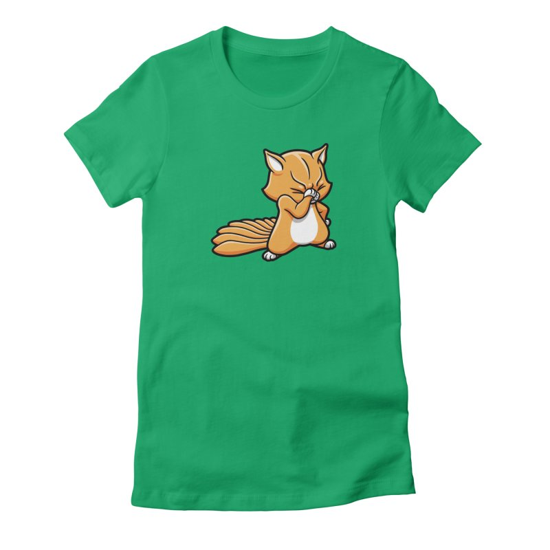 Face Palm Women's Fitted T-Shirt by Rina Rozsas's Artist Shop