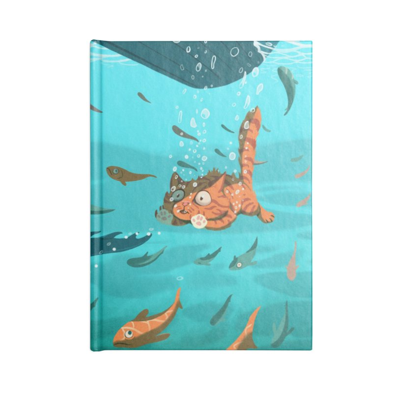 Overboard Accessories Lined Journal Notebook by Rina Rozsas's Artist Shop