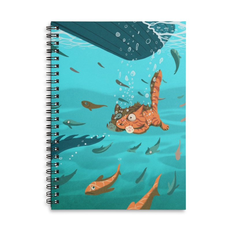 Overboard Accessories Lined Spiral Notebook by Rina Rozsas's Artist Shop