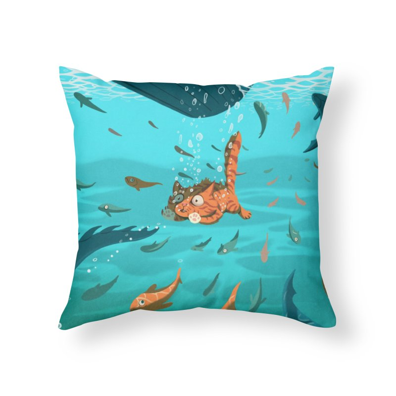 Overboard Home Throw Pillow by Rina Rozsas's Artist Shop