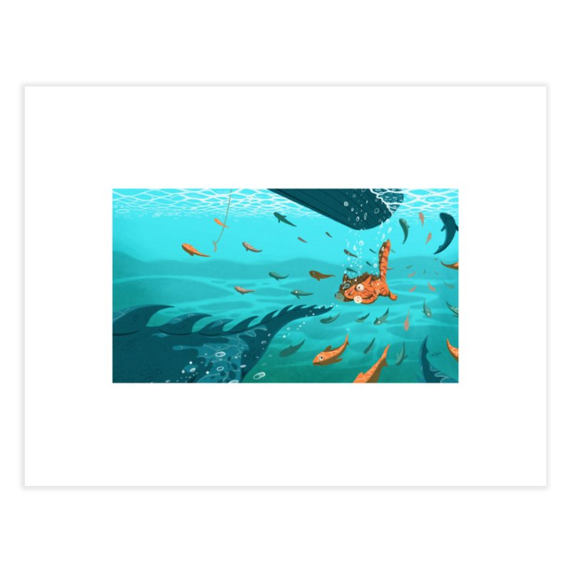 Overboard Home Fine Art Print by Rina Rozsas's Artist Shop