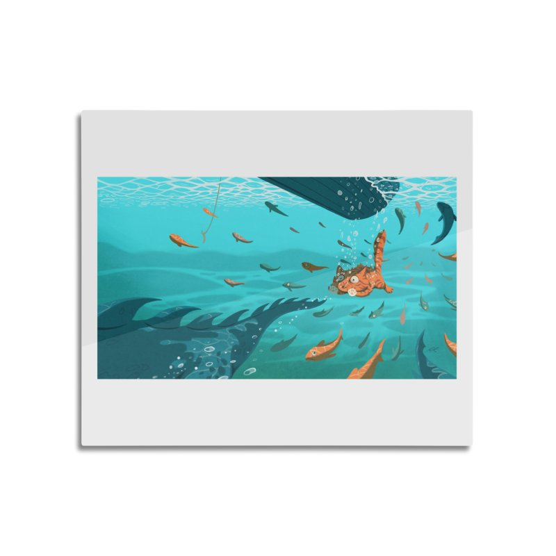 Overboard Home Mounted Aluminum Print by Rina Rozsas's Artist Shop