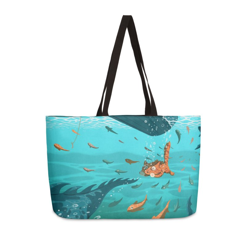 Overboard Accessories Weekender Bag Bag by Rina Rozsas's Artist Shop