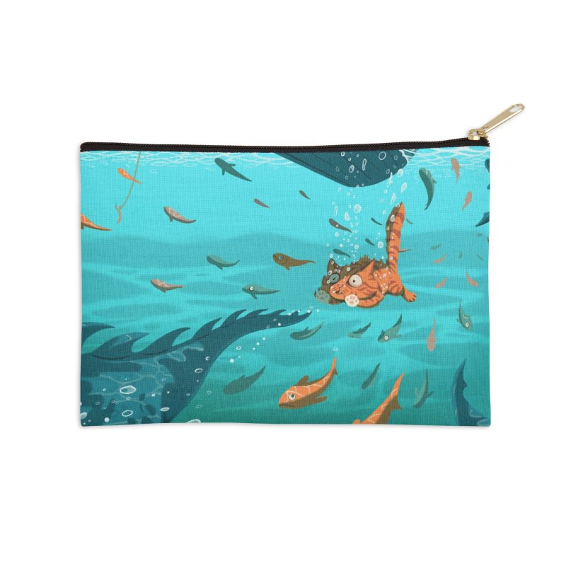 Overboard Accessories Zip Pouch by Rina Rozsas's Artist Shop