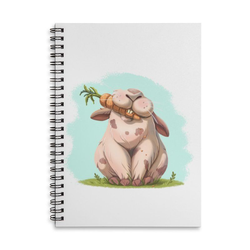 Floofy Accessories Lined Spiral Notebook by Rina Rozsas's Artist Shop