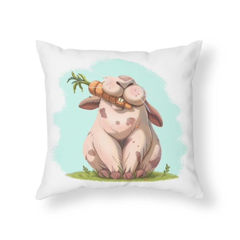 Floofy Home Throw Pillow by Rina Rozsas's Artist Shop