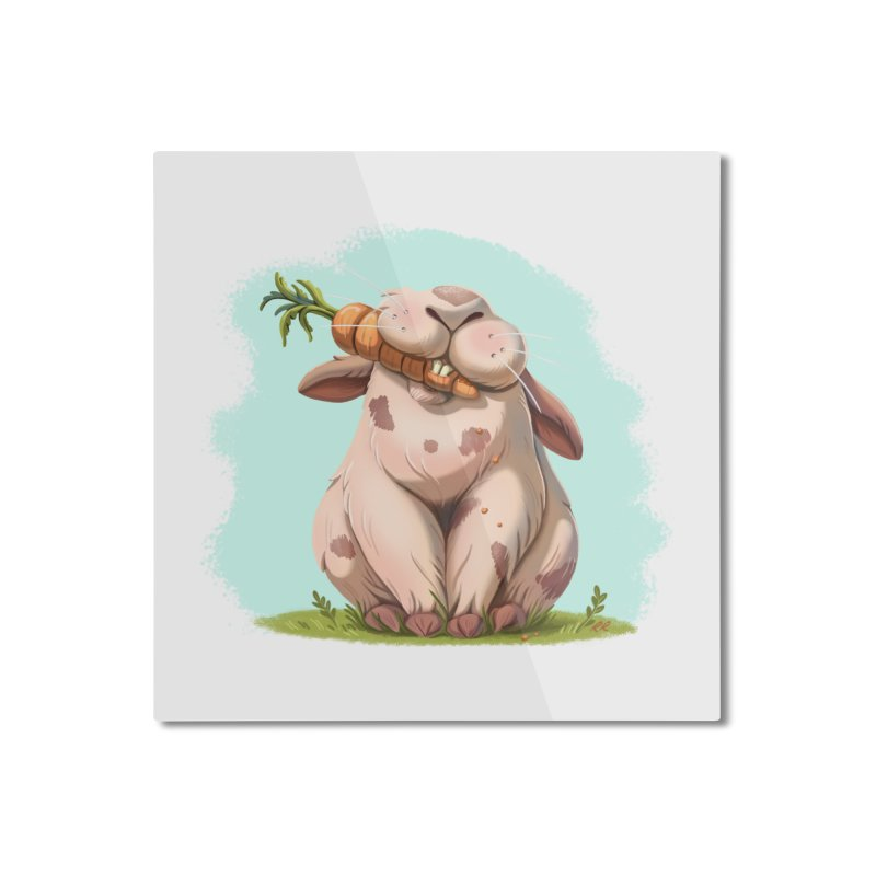 Floofy Home Mounted Aluminum Print by Rina Rozsas's Artist Shop