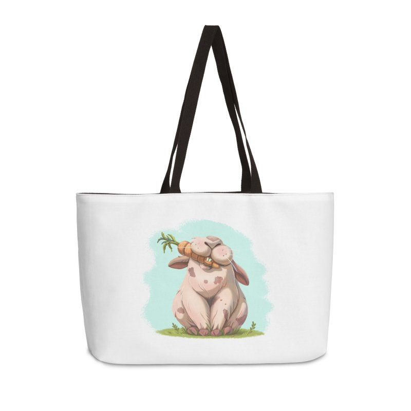 Floofy Accessories Weekender Bag Bag by Rina Rozsas's Artist Shop