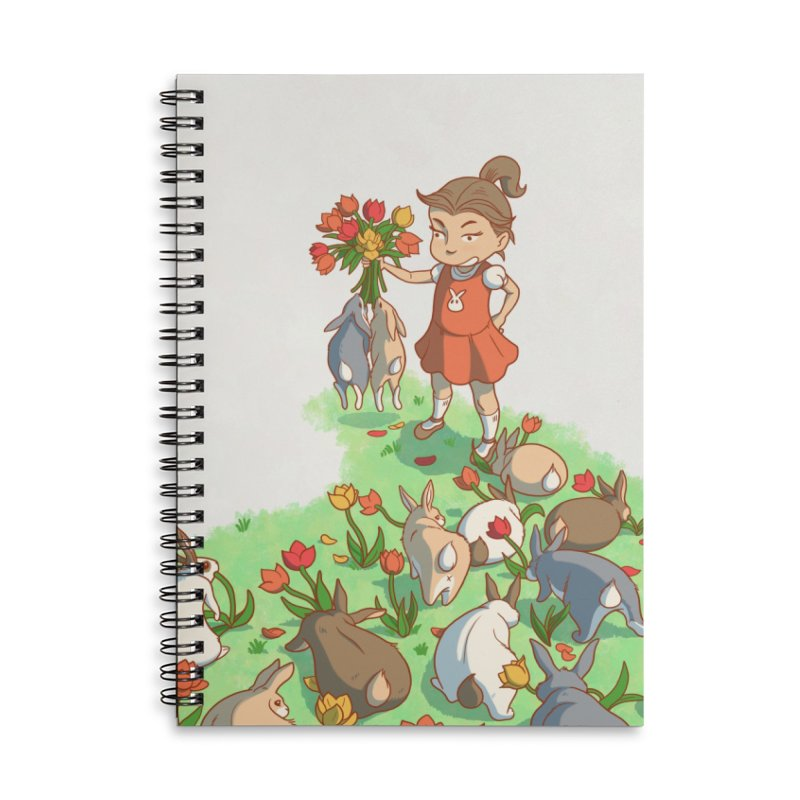 Fluffle Accessories Lined Spiral Notebook by Rina Rozsas's Artist Shop