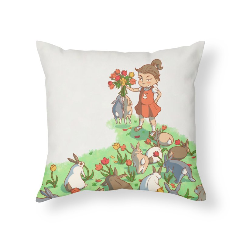 Fluffle Home Throw Pillow by Rina Rozsas's Artist Shop