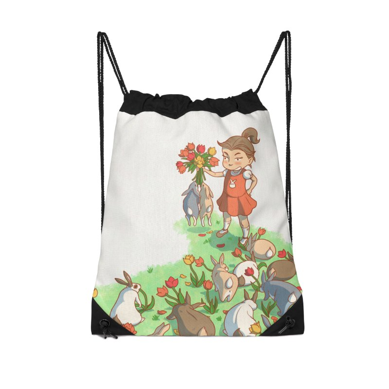 Fluffle Accessories Drawstring Bag Bag by Rina Rozsas's Artist Shop