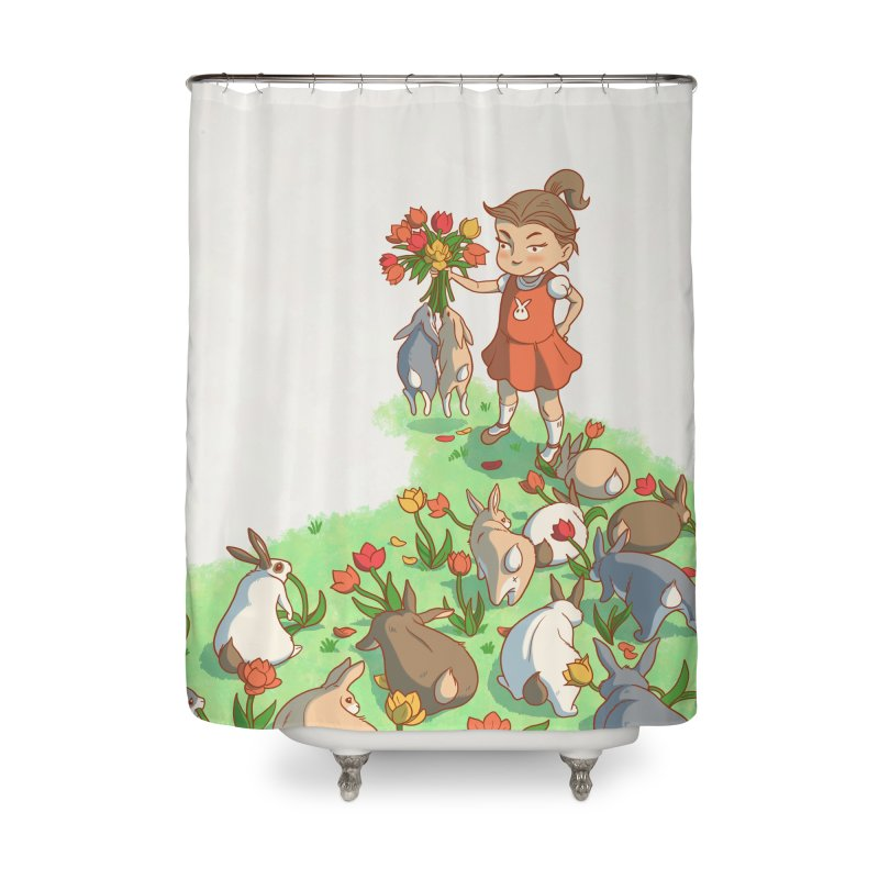 Fluffle Home Shower Curtain by Rina Rozsas's Artist Shop