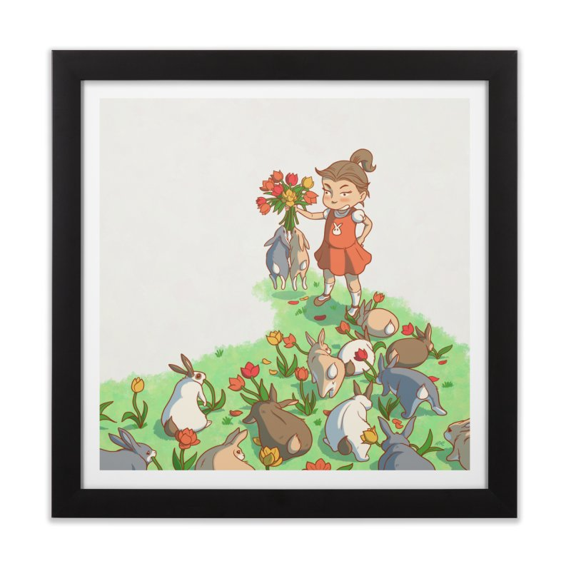 Fluffle Home Framed Fine Art Print by Rina Rozsas's Artist Shop