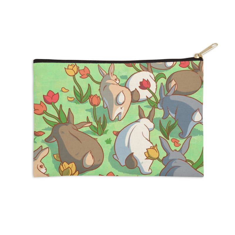Fluffle Accessories Zip Pouch by Rina Rozsas's Artist Shop