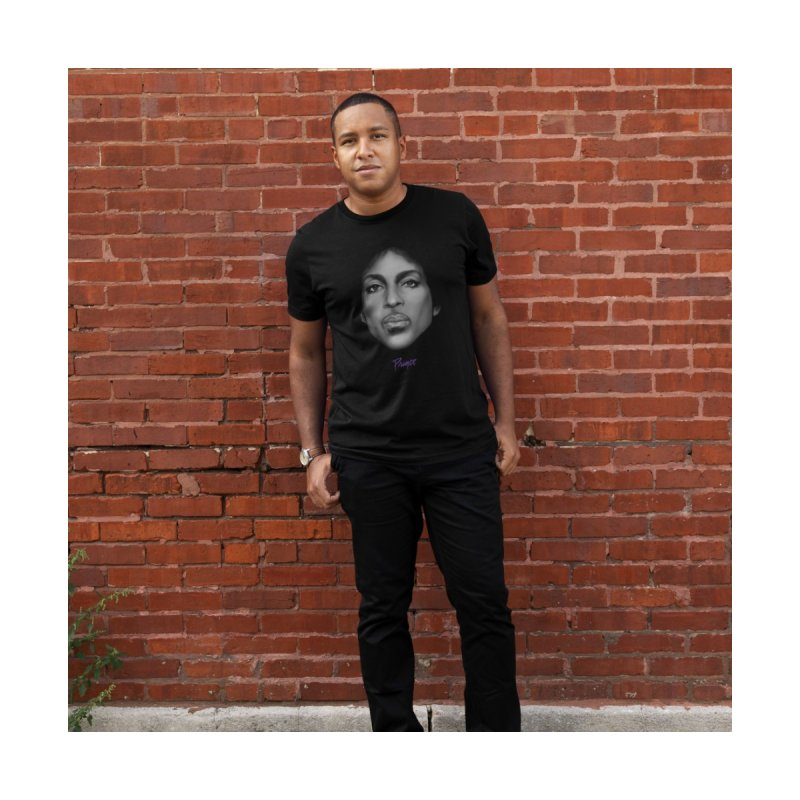 PRINCE IN BLACK Men's T-Shirt by christopheart