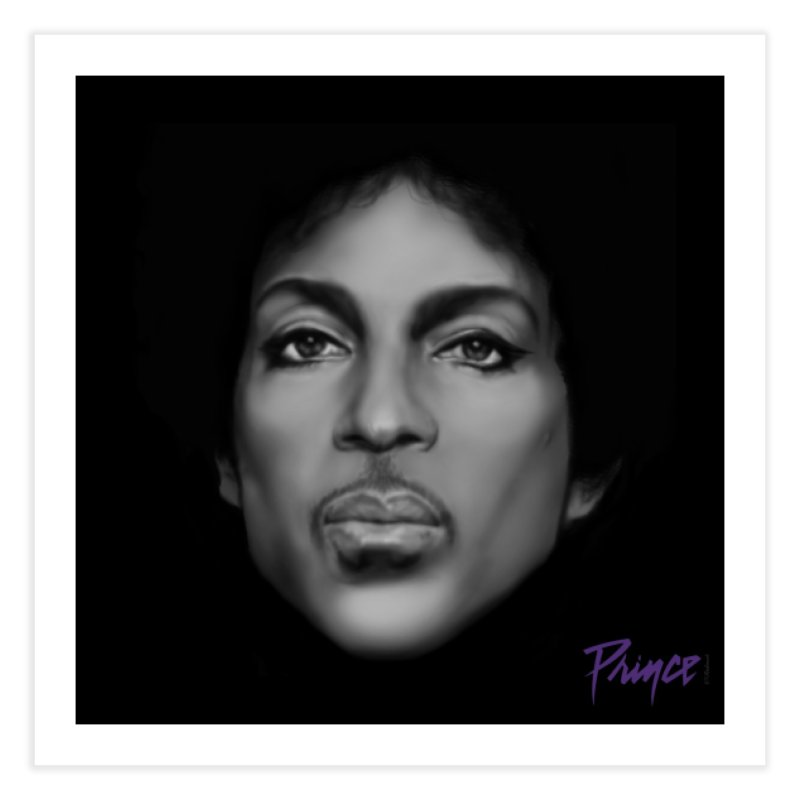 PRINCE IN BLACK Home Fine Art Print by christopheart